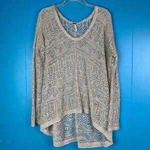 Free People Loose Knit Hi-Low Sweater